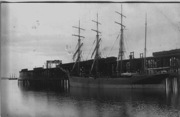 Coal Dock Ladysmith 1910 - 4 masted ship loading coal